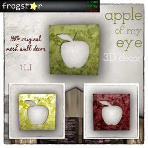 Frogstar - Apple of My Eye Decor Poster